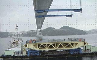 直下吊り桁架設