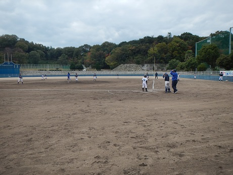 試合の様子(宮窪石文化野球場)