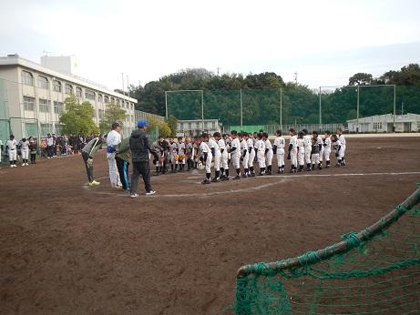 試合の様子(伯方高校)