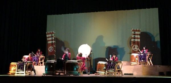 「能島水軍太鼓絵巻」 演奏の間の一幕