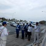 大浜パーキングエリアで年末の交通事故防止キャンペーンを行いました