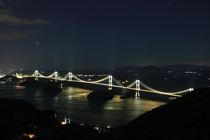 大島亀老山より