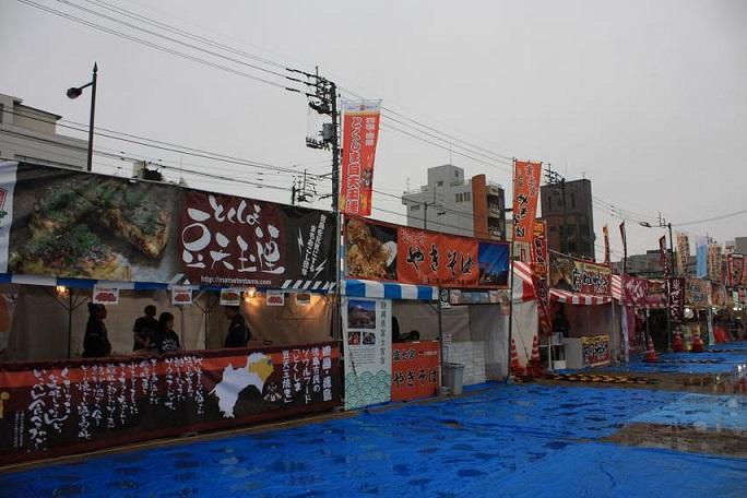 「B-1グランプリコーナー」の「富士宮やきそば」などのブース