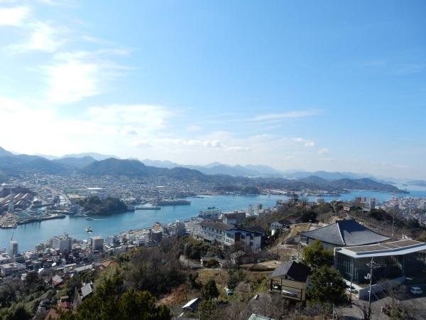 千光寺展望台からの風景(尾道水道)