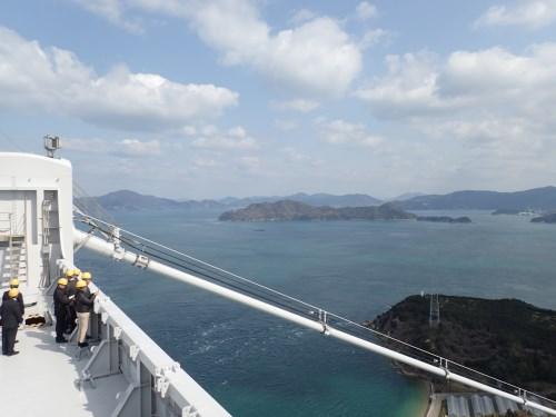 8P塔頂から来島海峡を望む