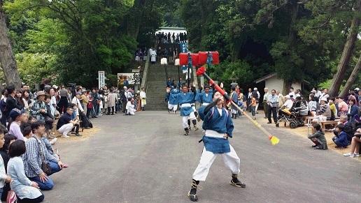 神宮獅子舞保存会による大名行列