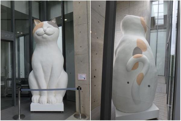 猫のオブジェ(正面と後ろ姿)