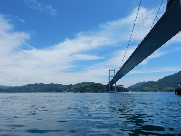 観潮船から見た来島海峡大橋