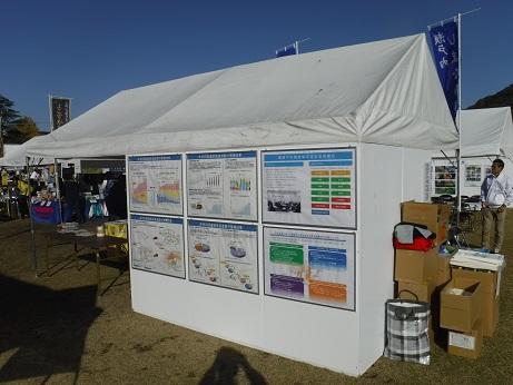 「本州四国連絡高速道路の整備効果」の紹介パネルも展示しました。