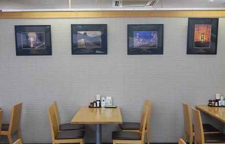 左2点が第9回、右2点が第8回「しまなみ海道特別賞」受賞作品